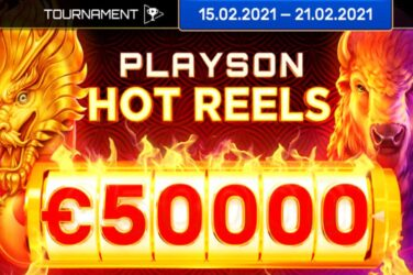 New Playson Hot Reels Slot Tournament with 50k Prize Pot