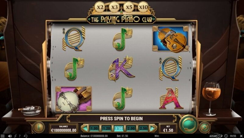 Nuova slot rilasciata da Play'n GO: The Paying Piano Club