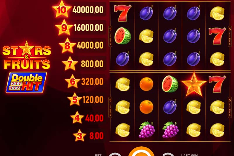 Get two for one on Playson's new online slot Stars and Fruits Double Hit