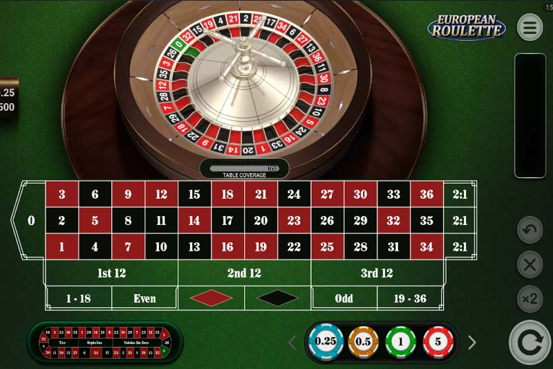 Best online casinos with European roulette